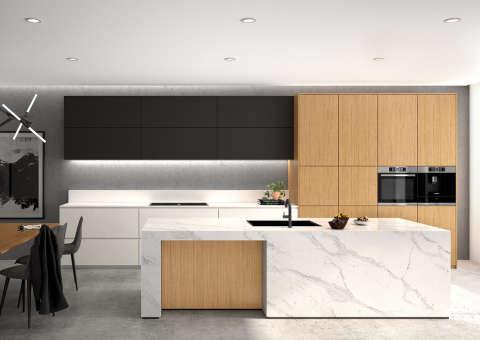 Phòng Bếp Dùng Acrylic Mờ