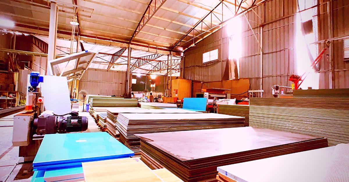 Một góc nhà máy acrylic pma
