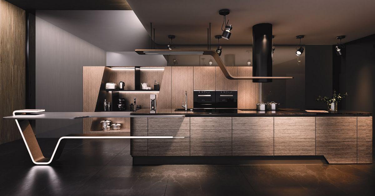 Chất liệu Acrylic cao cấp luôn tạo ra một chiếc tủ bếp chất lượng