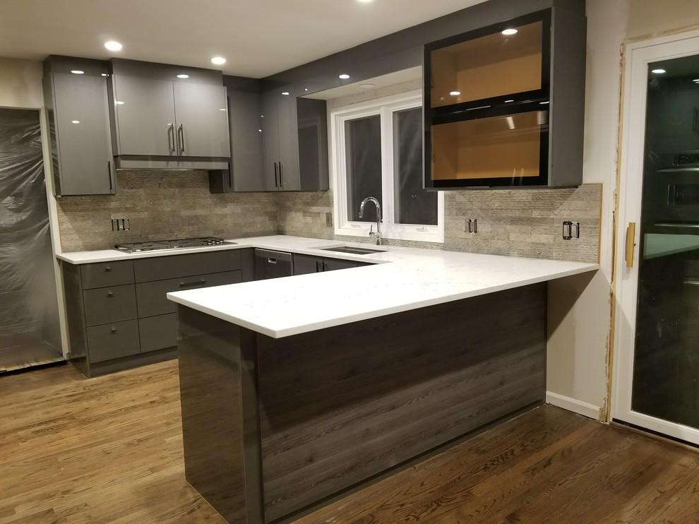 Tủ bếp chữ U phù hợp với mọi không gian nhà bếp