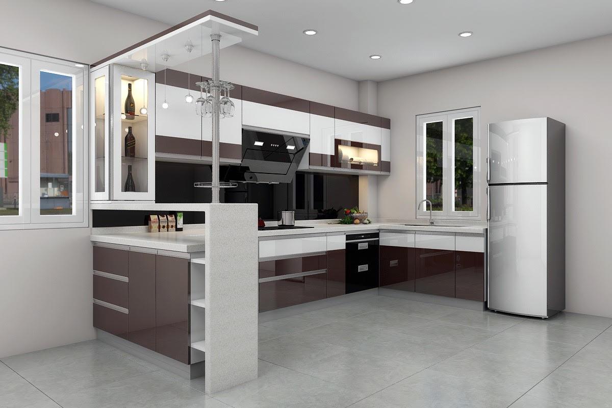 Thiết kế tủ bếp chữ U vừa đáp ứng công năng sử dụng vừa đảm bảo giá trị thẩm mỹ cao