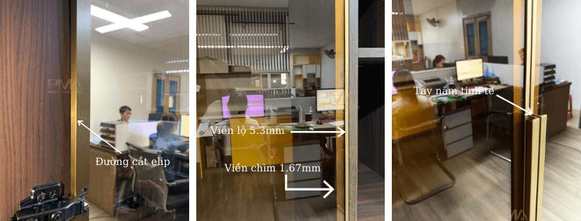 nét tinh tế trong thiết kế cánh khung kính PMA Lux